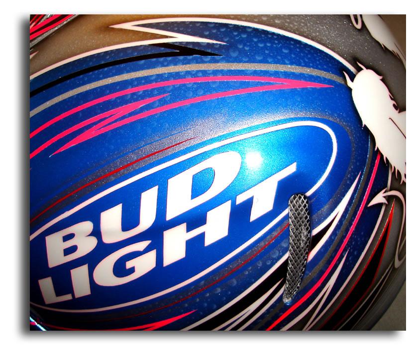 Custom Painted Helmet Gallery - Bud Light