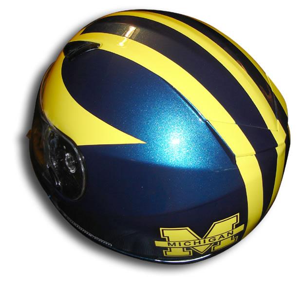 Custom Painted Helmet Gallery Michigan Wolverines