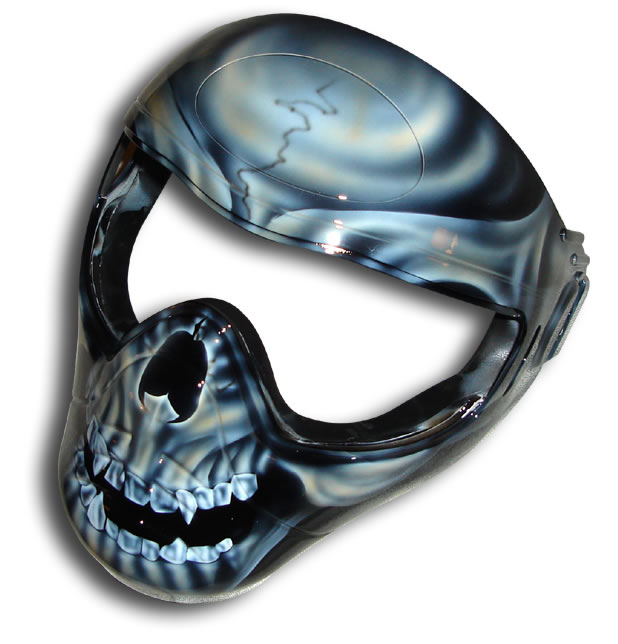 custom painted other gallery skull paintball mask
