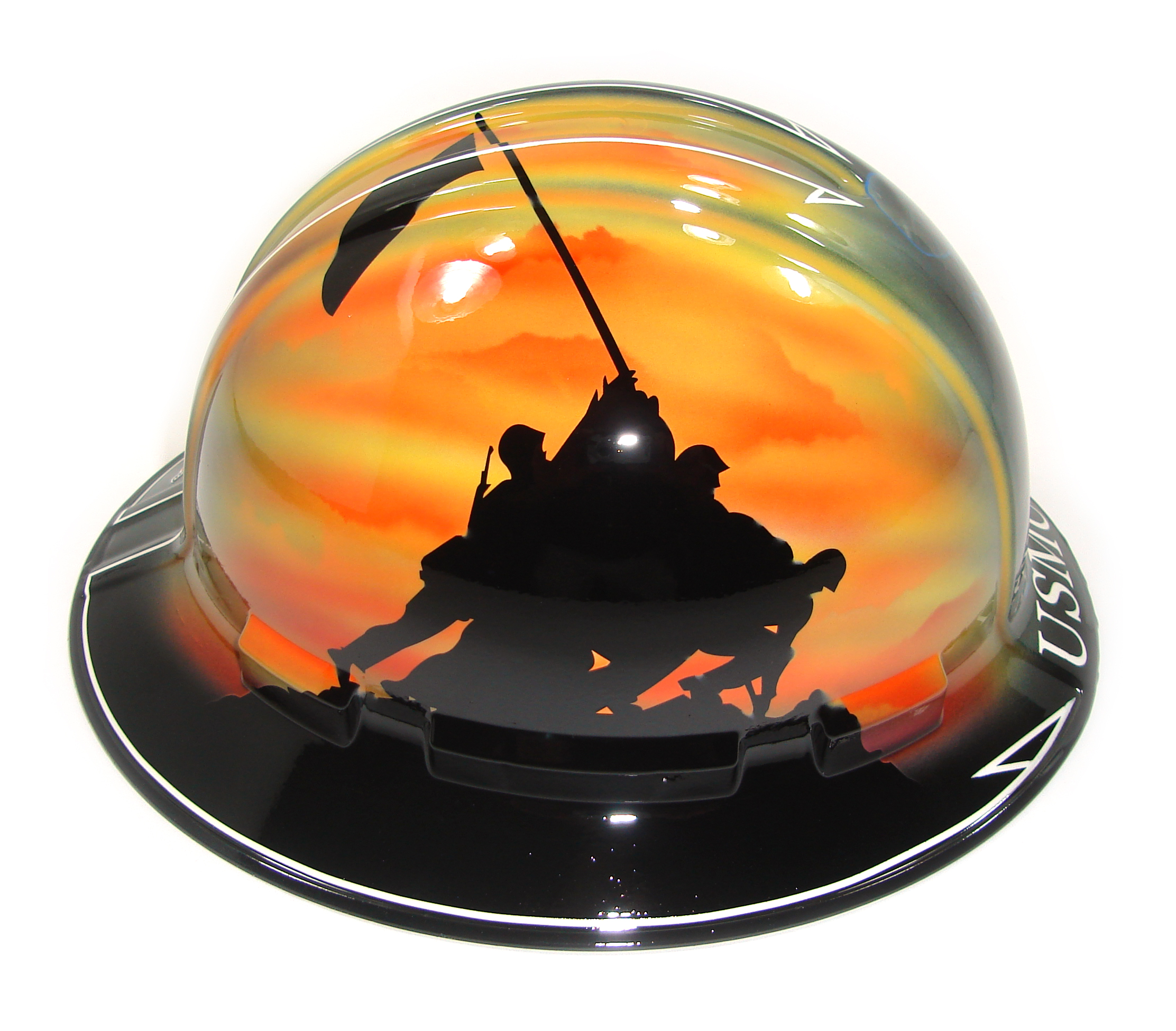 Custom Painted Other Gallery - Marine Corps Hard Hat