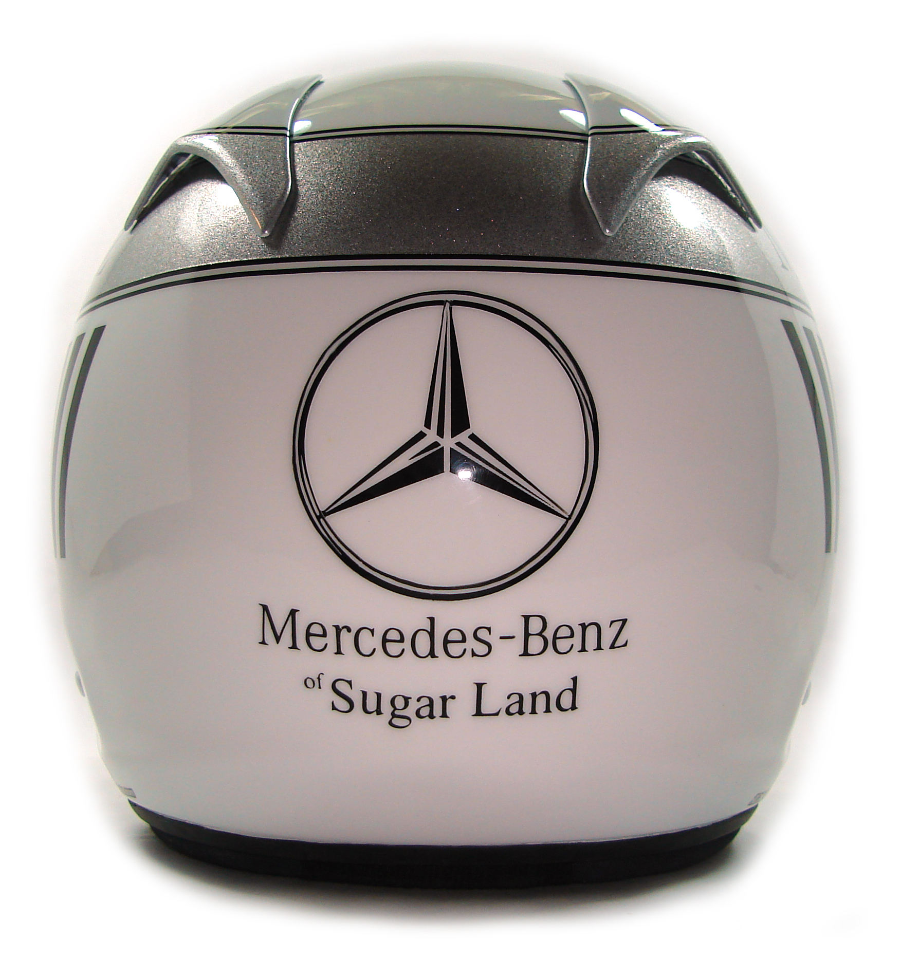 Custom painted helmet gallery mercedes benz amg helmet for Mercedes benz sugarland