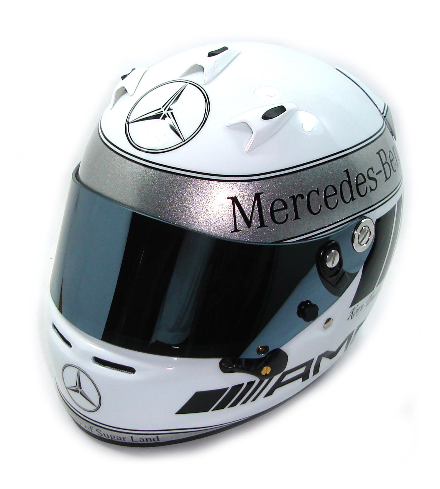 Custom Painted Helmet Gallery - Mercedes Benz AMG Helmet
